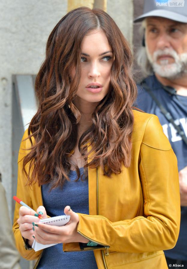 "Megan Fox no set de ""Tartarugas Ninja"""