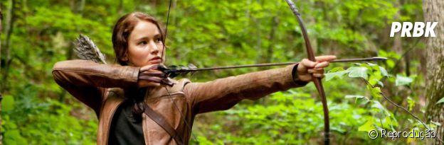 """Arco e flecha é a especialidade de Jennifer Lawrence, eterna Katniss de """"Jogos Vorazes"""""""