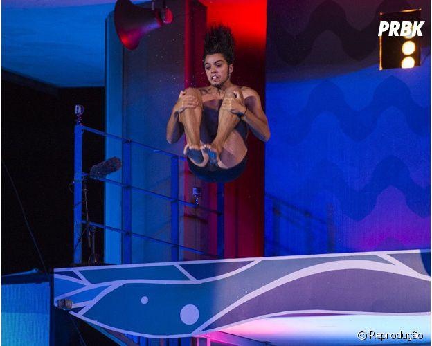 """Rodrigo Simas mostrou seu talento no quadro """"Saltibum"""""""