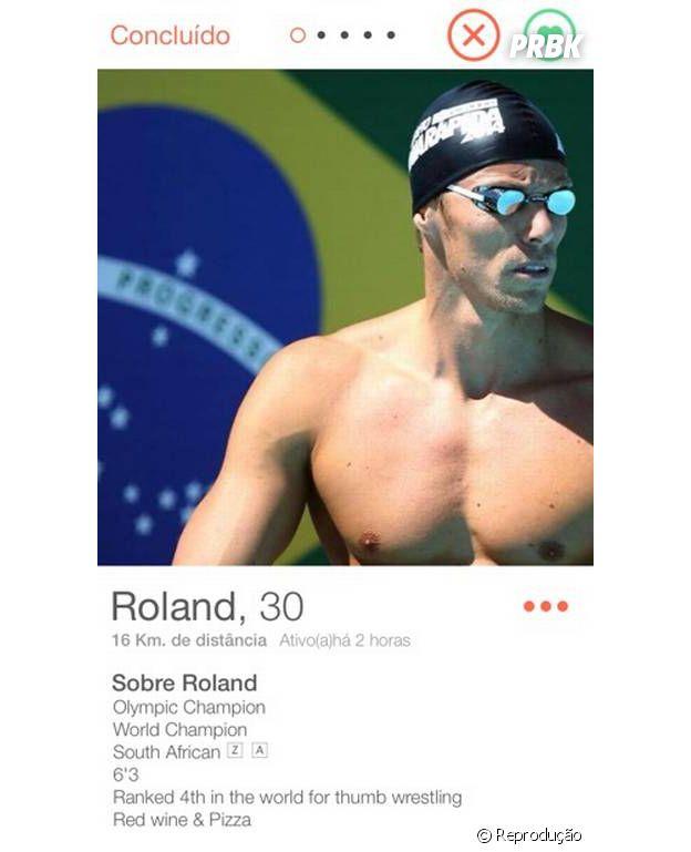 Roland Schoeman veio da África do Sul para disputar a natação nas Olimpíadas