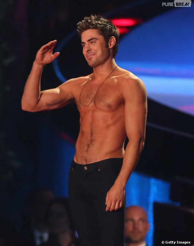 "Zac Efron justifica prêmio de Melhor Performance Sem Camisa do Ano no ""MTV Movie Awards 2014"""
