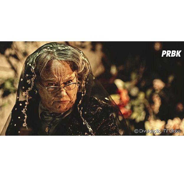 """Em """"Velho Chico"""", Encarnação (Selma Egrei) é a culpada pelo assassinato de capitão Ernesto Rosa (Rodrigo Lombardi)"""