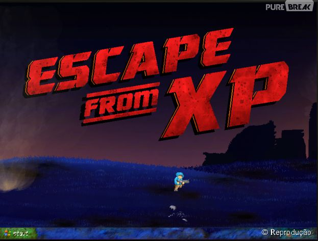 "Micrsoft criou o game ""Escape from XP"" para sacanear o fim do suporte para ""Windows XP"""
