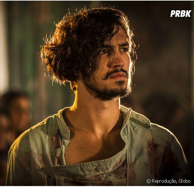 """Em """"Velho Chico"""", Miguel (Gabriel Leone) recebe herança de Encarnação (Selma Egrei)"""