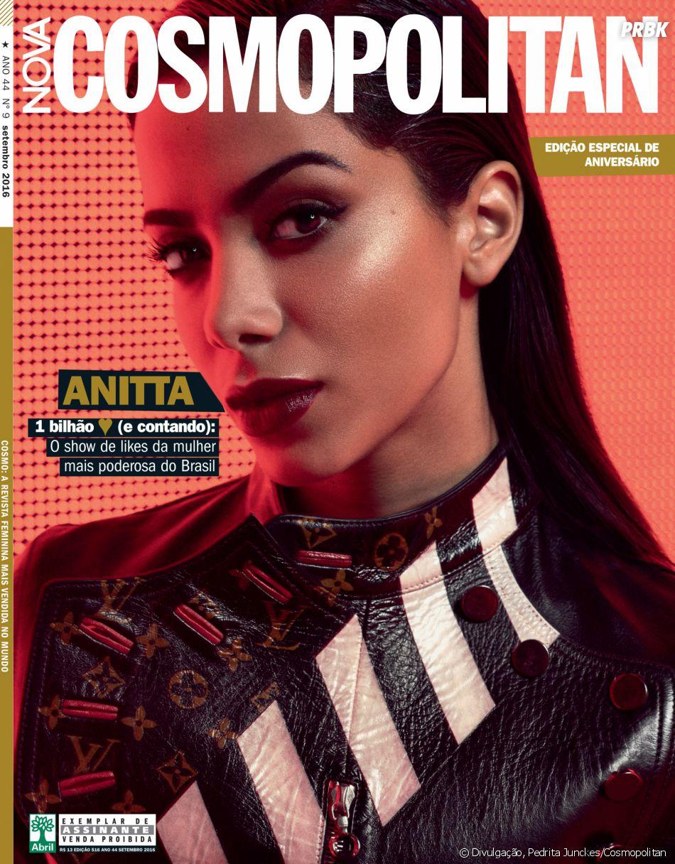 Anitta ganha destaque na nova edição da revista Cosmopolitan