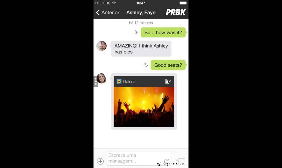 Compartilhe fotos, vídeos, músicas facilmente pelo Kik