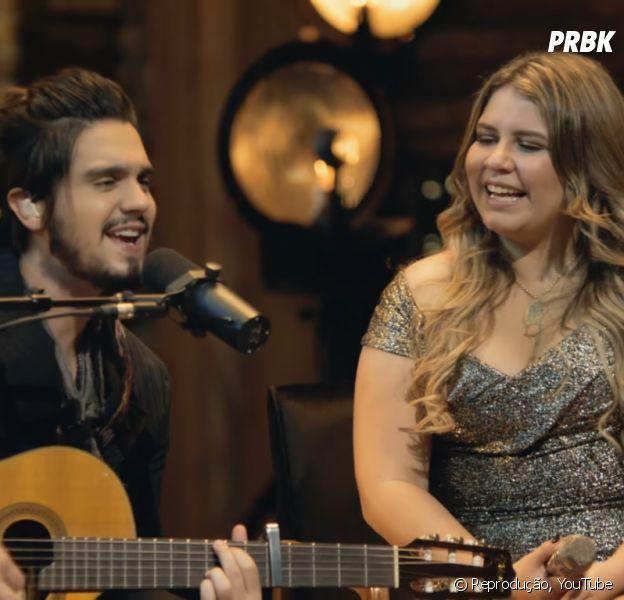 """Luan Santana e Marília Mendonça lançaram a música """"Fantasma"""" nesta quinta-feira (3)"""