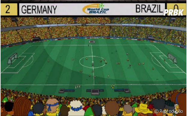 """Em """"Os Simpsons"""", os criadores acertaram que o Brasil perderia na Copa do Mundo do Brasil para a Alemanha, só erraram o placar..."""