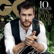 """Chris Hemsworth é eleito o homem do ano pela revista GQ Austrália: """"Verdadeiro sonho, desde garoto"""""""