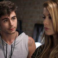 """Novela """"Rock Story"""": Léo Régis (Rafael Vitti) e Diana (Alinne Moraes) são presos por invadir casa!"""