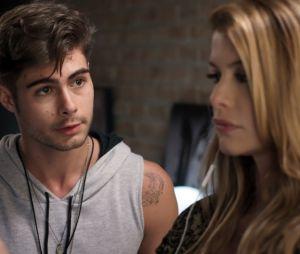 """Em """"Rock Story"""": Léo Régis (Rafael Vitti) e Diana (Alinne Moraes) serão presos"""