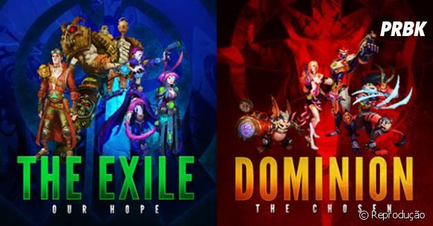 "As facções Exile e Dominion do game ""WildStar"""