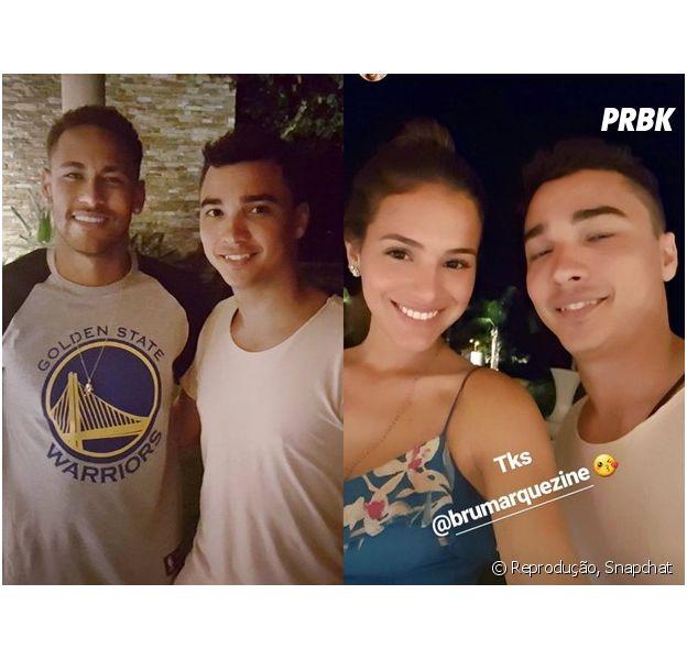 Bruna Marquezine e Neymar curtiram um dia de folga na casa do jogador em Mangaratiba e posaram para selfies