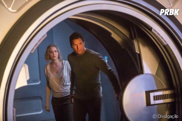 """Jennifer Lawrence e Chris Pratt são os protagonistas de """"Passageiros"""""""