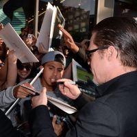 """Em première de """"Malévola"""", Brad Pitt é surpreendido e leva soco de repórter"""