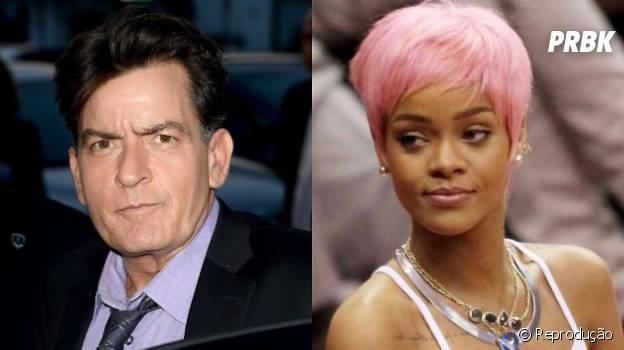 Rihanna e Chalie Sheen se desentendem no Twiiter