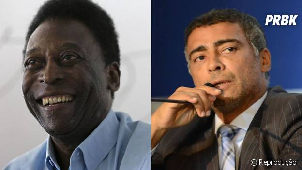 Pelé e Romário, um caso de amor e ódio