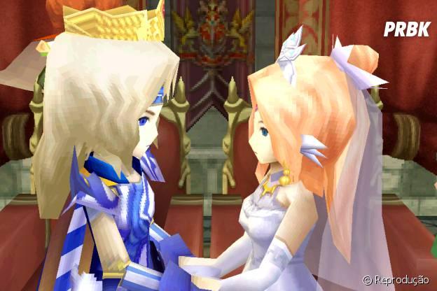 """Casamento de Cecil e Rosa em """"Final Fantasy IV"""""""
