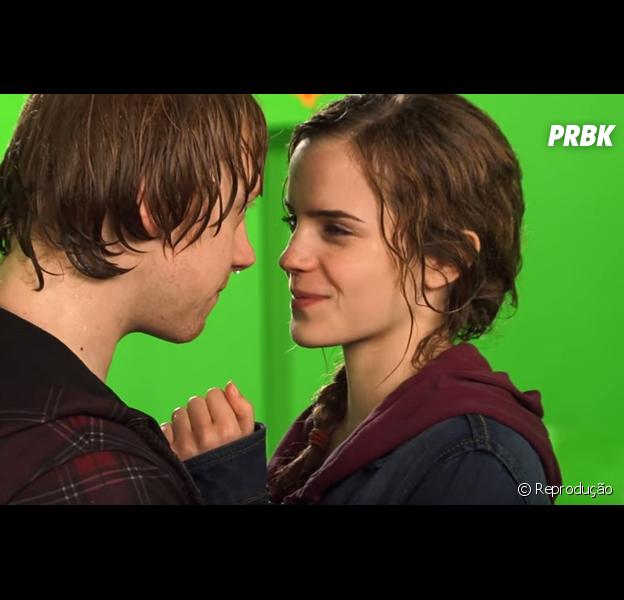 """De """"Harry Potter"""": Emma Watson e Rupert Grint cresceram juntos e não gostaram de se beijar no último longa!"""
