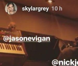 Nick Jonas grava com Skylar Grey em estúdio!