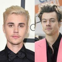 """Justin Bieber elogia Harry Styles após sua participação no """"Carpool Karaoke"""": """"Parabéns pelo álbum"""""""