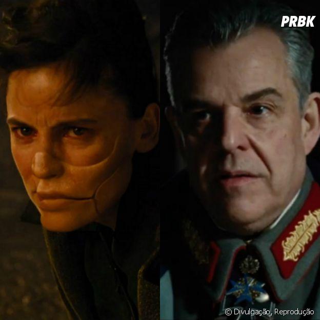 "Os vilões de ""Mulher-Maravilha"": Doutora Veneno (Elena Anaya) eErich Ludendorff (Danny Huston)"