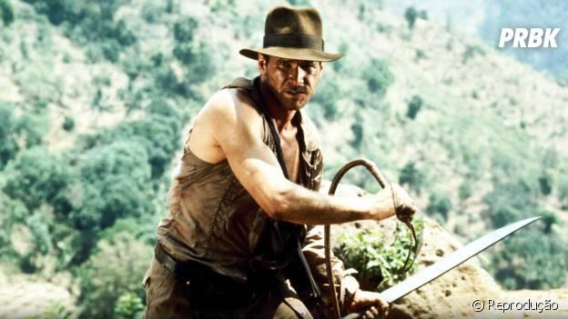 """Harrison Ford estrelou quatro filmes da série """"Indiana Jones"""""""