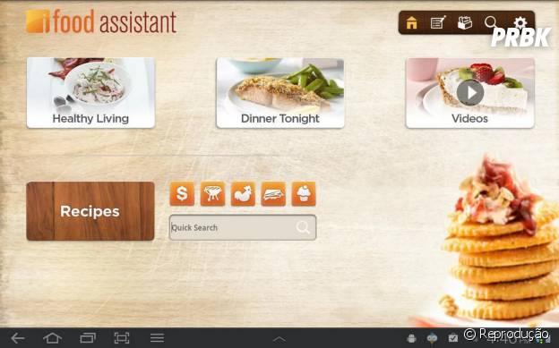 Aplicativo iFood tem vídoes mostrando o passo a passo de cada receita
