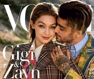 Zayn Malik e Gigi Hadid estampam capa da nova Vogue Americana!