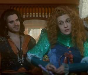"""Em """"Meu Pedacinho de Chão"""", Ferdinando (Johnny Massaro) acha que está perdendo Gina (Paula Barbosa) para Viramundo (Gabriel Sater)"""