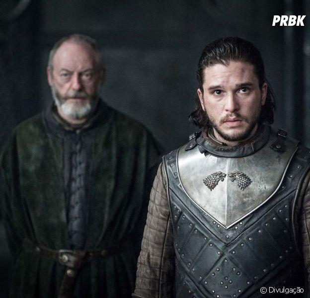 """De """"Game of Thrones"""": imagens do encontro entre Jon Snow (Kit Harington) e Daenerys (Emilia Clarke) são liberadas!"""