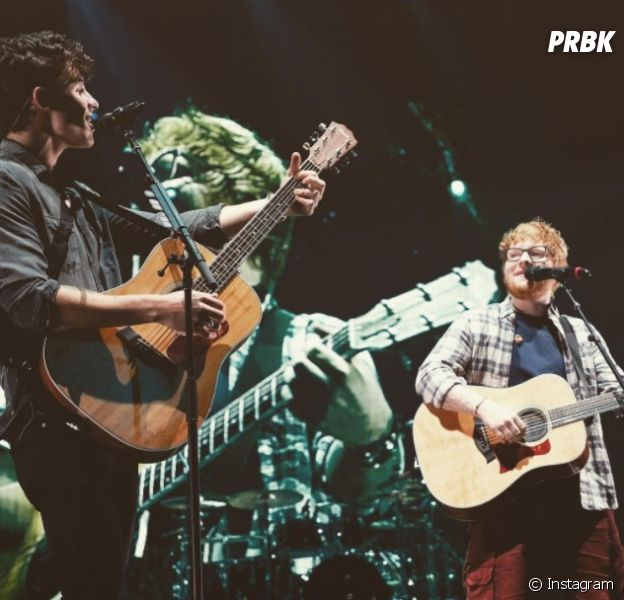 "Ed Sheeran cantou ""Mercy"" com Shawn Mendes"