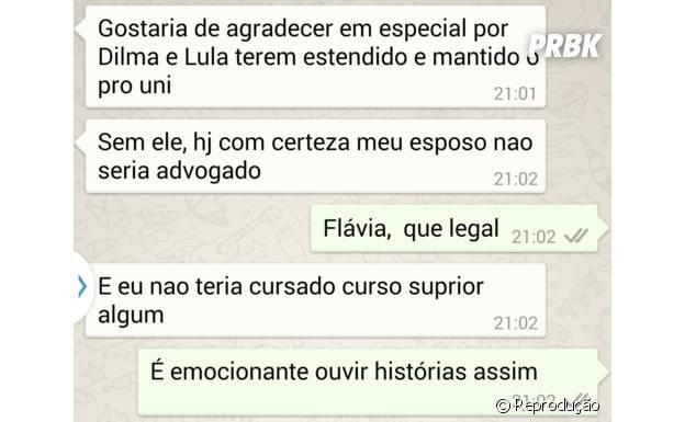 """Eleitores trocam mensagens pelo """"Whatsapp"""" de Dilma"""