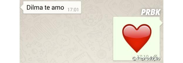 """Normalmente as mensagens trocadas pelo """"Whatsapp"""" são de apoio"""
