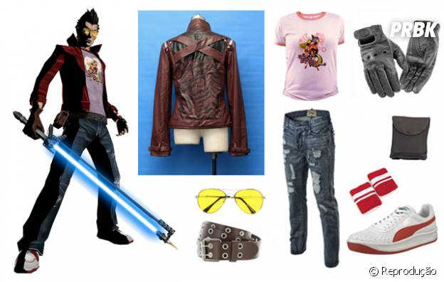 "Travis Touchdown do game ""No More Heroes"""