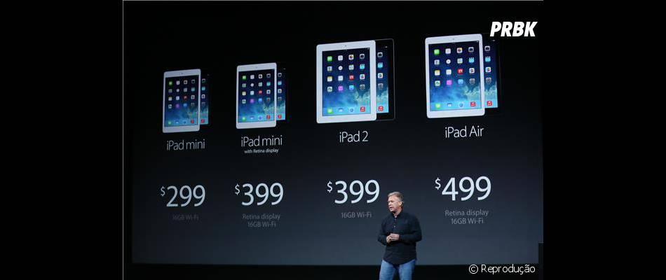 Apple apresenta os preços dos novos iPads