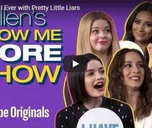 """Elenco de Pretty Little Liars brinca de """"Eu Nunca"""" em """"Show Me More Show"""""""