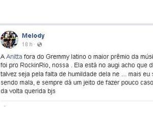 MC Melody detona Anitta após polêmicas