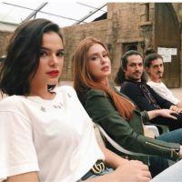 """Bruna Marquezine, Marina Ruy Barbosa e Tatá Werneck se divertem em gravação de """"Deus Salve o Rei"""""""