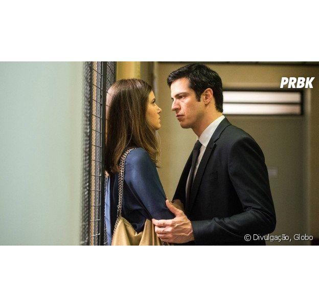 """Em """"Pega Pega"""", Luiza (Camila Queiroz) e Eric (Mateus Solano) se separam"""
