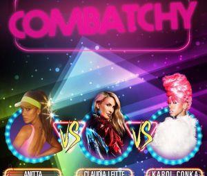 Anitta recebe Claudia Leitte e Karol Conká na festa Combatchy!