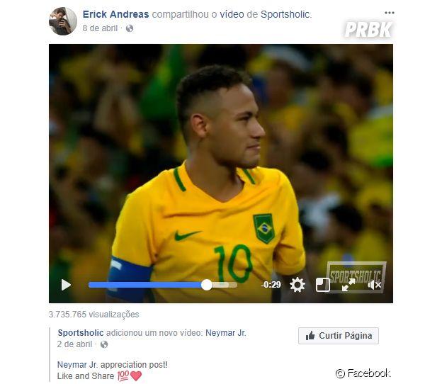Erick Andreas, namorado de Mel Maia, curte futebol