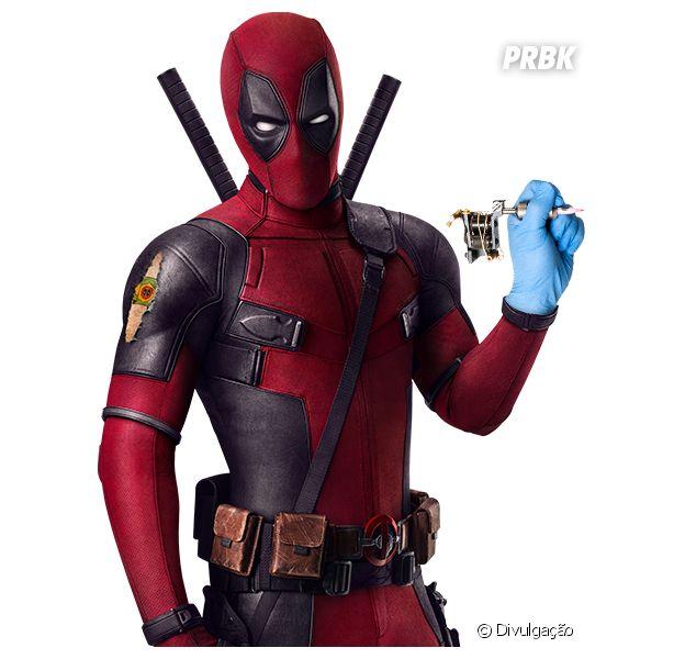 Deadpool como tatuador para divulgar estande da Comic-Con Experience