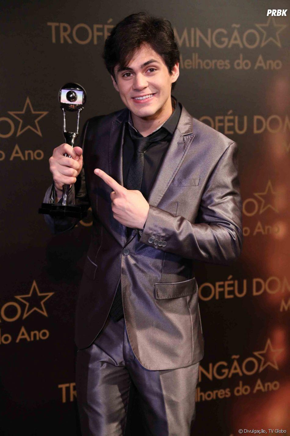 """Lucas Veloso venceu na categoria Melhor Comediante do Melhores do Ano 2017 do """"Domingão do Faustão"""""""