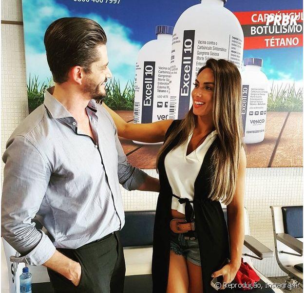 """Marcos Harter será padrinho do casamento de Nicole Bahls; dupla se aproximou na primeira semana de """"A Fazenda"""""""