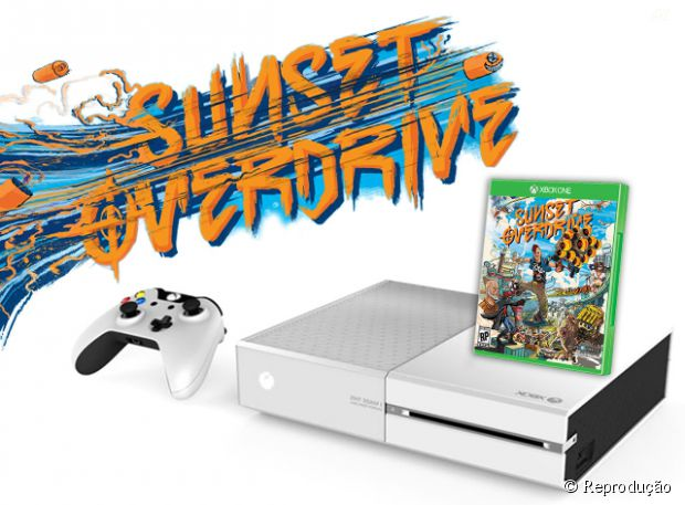 """O novo Xbox One branco vai sair em 28 de outubro junto com o jogo exclusivo """"Sunset Overdrive"""""""