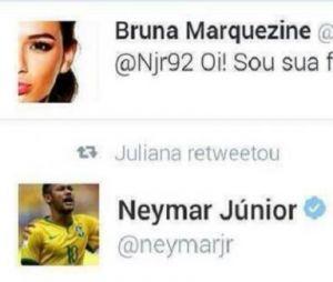 Bruna Marquezine deu em cima do Neymar pelo Twitter, revela jogador!