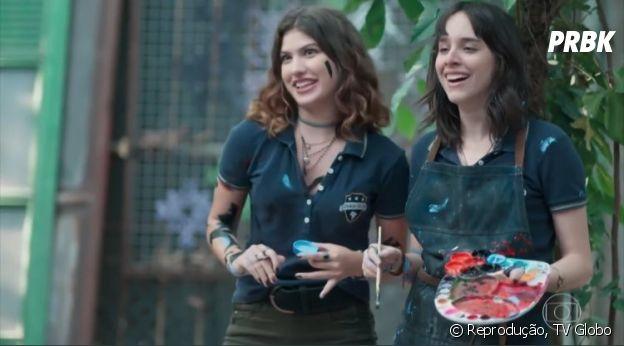 """Intérprete de Lica em """"Malhação"""", Manoela Aliperti fala sobre romance de sua personagem com Samantha (Giovanna Grigio)"""