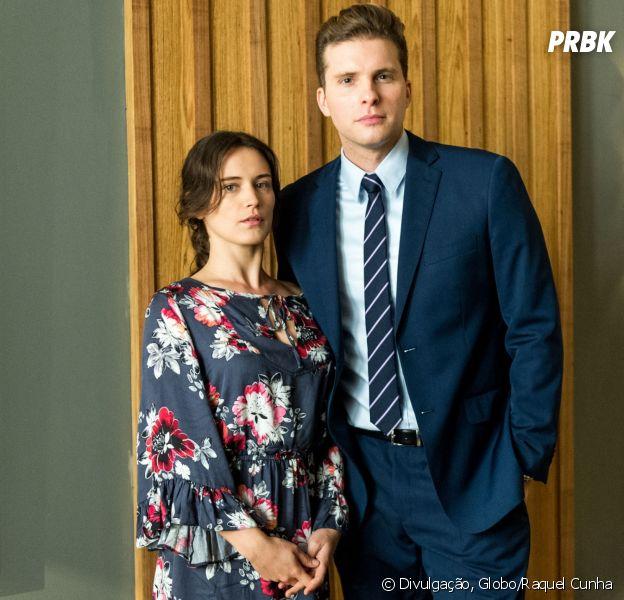 """Novela """"O Outro Lado do Paraíso"""": Clara (Bianca Bin) e Patrick (Thiago Fragoso) se beijam!"""