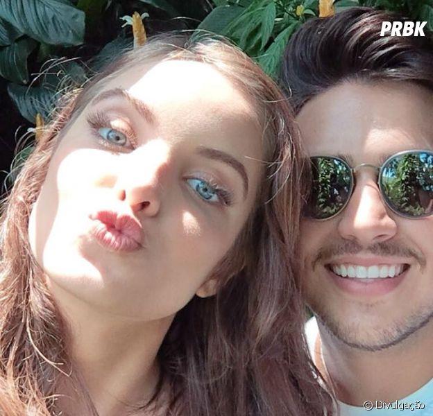Giovanna Chaves grava clipe com o cantor Pedro Thomé